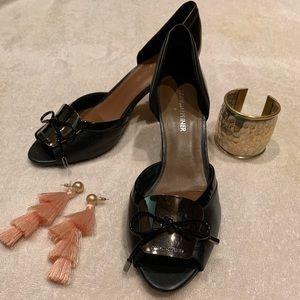 Donald J Pliner D'orsay peep toe kitten heels 8M